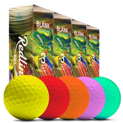 rote Golfbälle, gelbe Golfbälle, orange Golfbälle, rosa Golfbälle