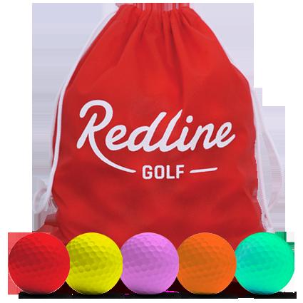 60 farbige Golfbälle