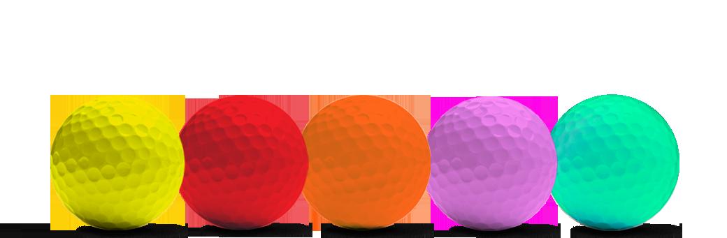 farbige Golfbälle von Redline Golf