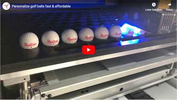 Golfbälle bedrucken über UV print