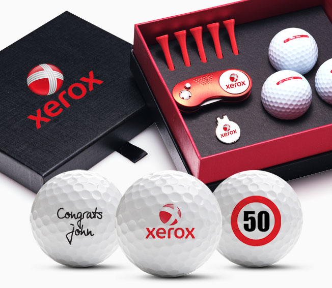custom golf gift box deluxe