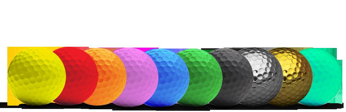 farbige Golfbälle